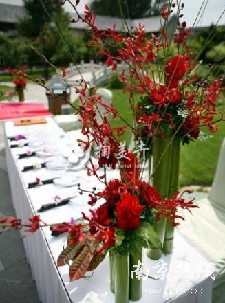 兰花与竹子打造简约奢华婚礼!