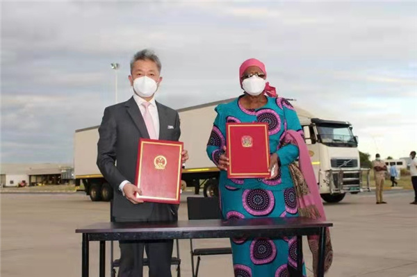我国政府支援新冠预苗运到纳米比亚