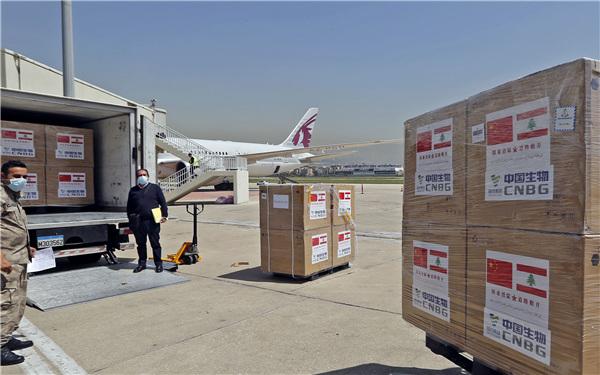 我国向多米尼加政府支援新冠预苗运到巴格达
